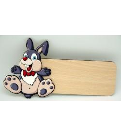 Placa para puerta Conejo