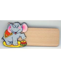 Placa para puerta Elefante