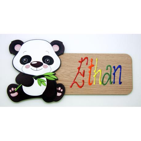 Placa para puerta Panda