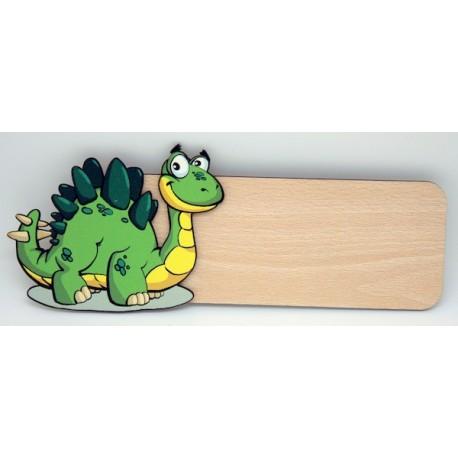 Placa para puerta Dino