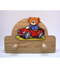 Coat Hanger Teddy with Car