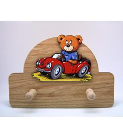 Coat Hanger Teddy with Car