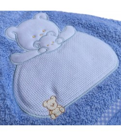 BABY TOWEL LIGHT BLUE 85X85cm