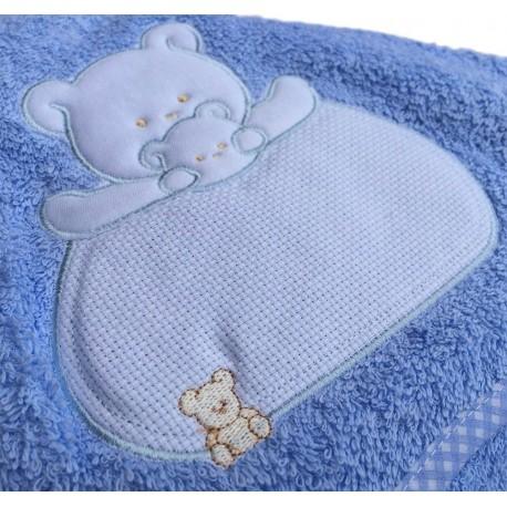BABY TOWEL LIGHT BLUE 85X85cm