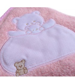 BABY TOWEL LIGHT PINK 85X85cm