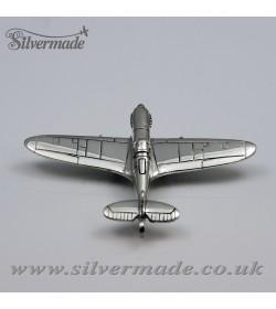 Llavero de plata de ley avión Spitfire