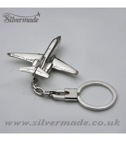 Sterling silver airplane keychain Hawker