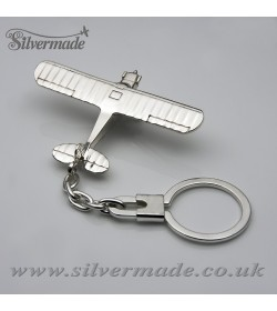 Sterling silver airplane keychain Piper CUB-J3