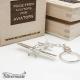 Sterling silver airplane keychain Zlin-50
