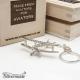 Sterling silver airplane keychain Bücker