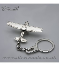 Sterling silver airplane keychain Cessna