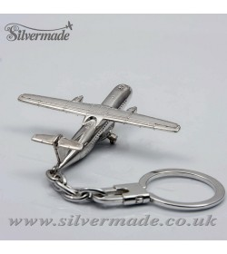Sterling silver airplane keychain ATR-72