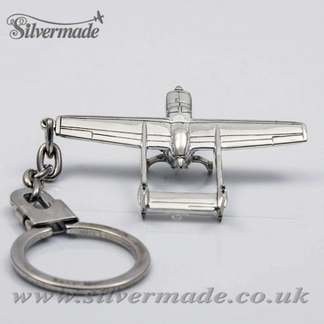 Sterling silver airplane keychain Cessna Skymaster