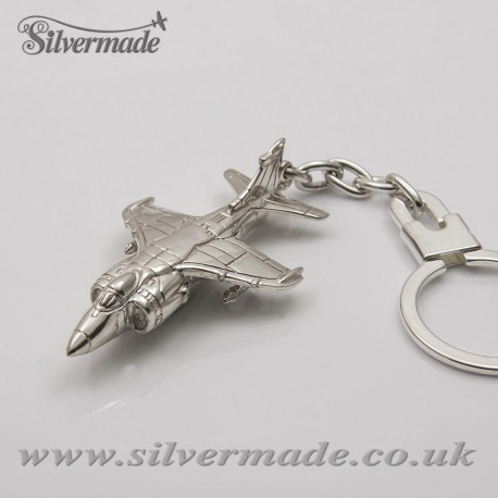 Sterling silver airplane keychain Harrier