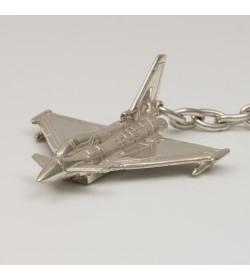Llavero de plata de ley avión Eurofighter Typhoon
