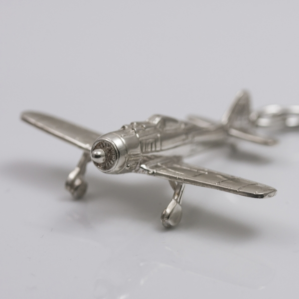 Argent avion trousseau de clés Focke-Wulf Fw-190