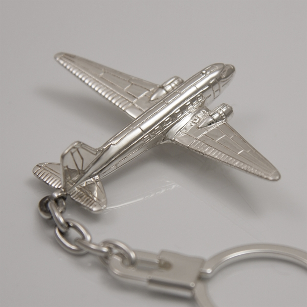 Sterling silver airplane keychain Douglas DC-3