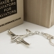 Sterling silver airplane keychain Diamond DA-42 Twin