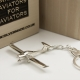Sterling silver airplane keychain Diamond DA-20 Eclipse