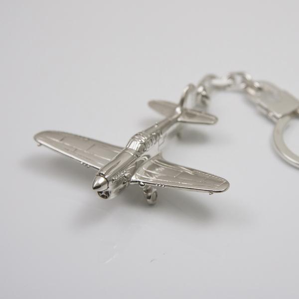 Sterling silver airplane keychain Curtiss P-40 Warhawk
