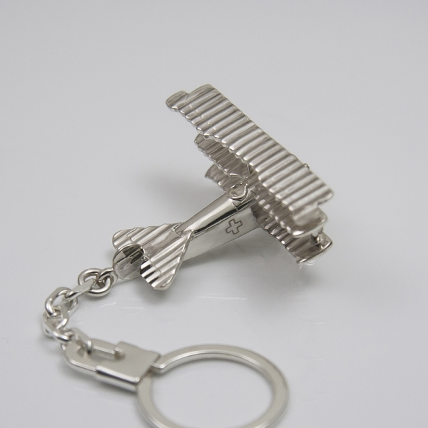 Sterling silver airplane keychain Fokker Dr1 - Red Baron