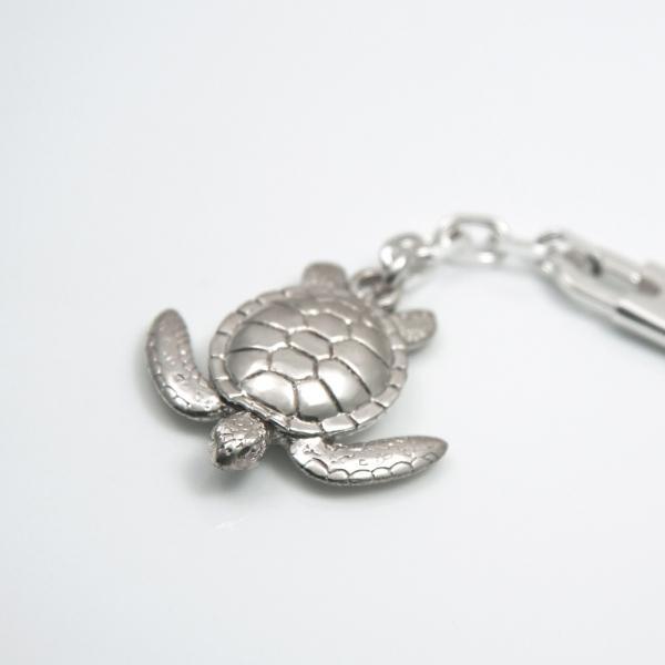 Sterling Silver Key Chain Sea turtle