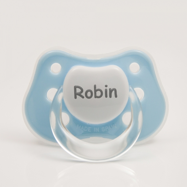 Blue Personalized Pacifier with Name