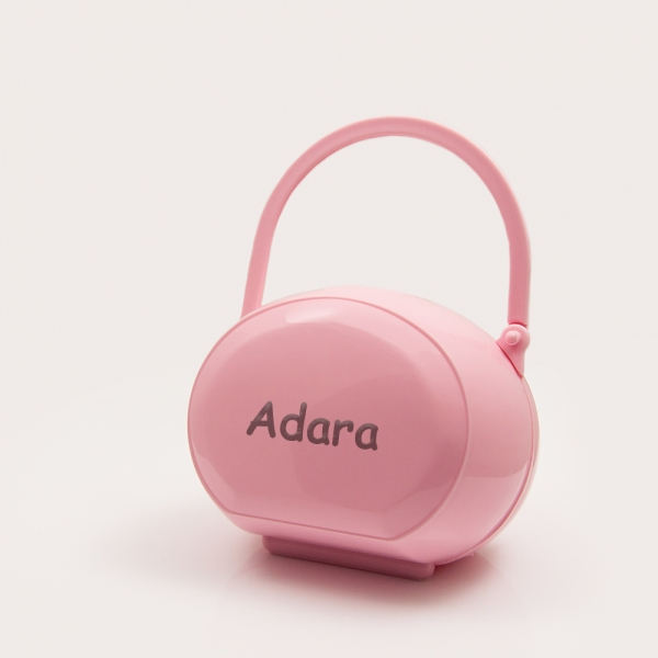 Pink Pacifier Box with Name