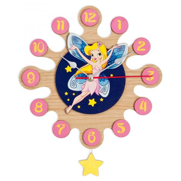Regalos Niños - Reloj de Pared con Pendulo - Hada