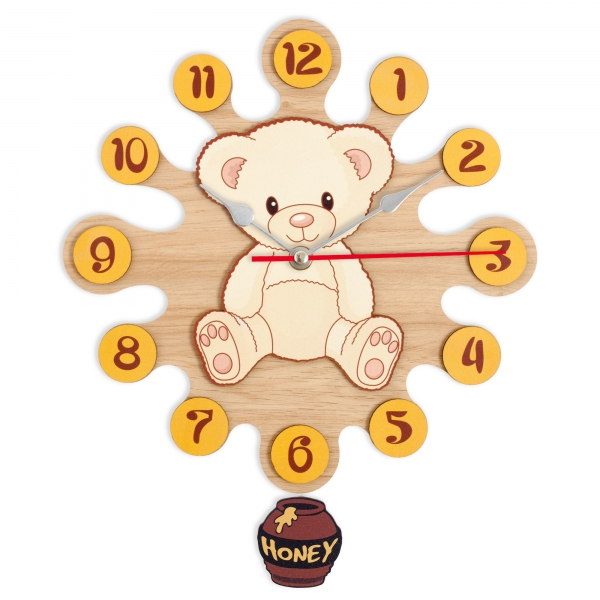 Wall clock with pendulum-Teddy
