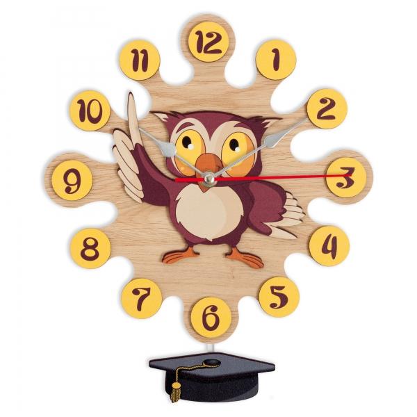 Reloj de pared con péndulo - Buho