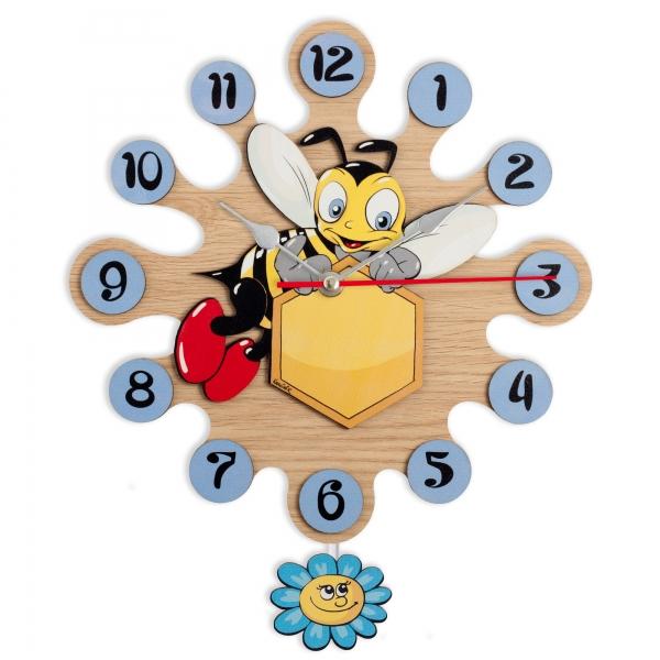 Regalos Niños - Reloj de Pared con Pendulo-Abeja