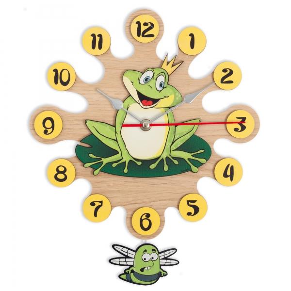 Reloj de pared con péndulo-Rana