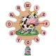 Wall clock with pendulum-Cow