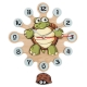 Gift for kids-Wall clock with pendulum-Turtle