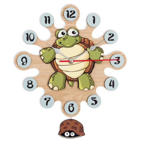 Regalos Niños-Reloj de Pared con Pendulo-Tortuga