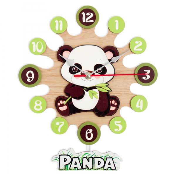Wall clock with pendulum-Panda