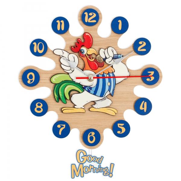 Horloge murale avec pendule-Le Coq