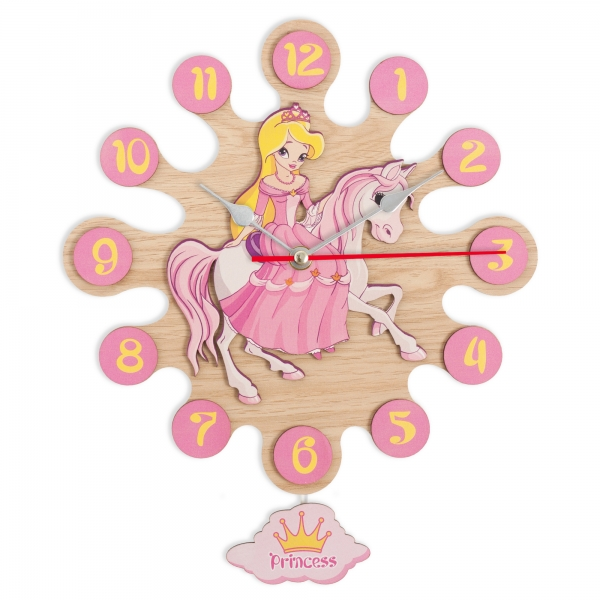 Gift for kids-Wall clock with pendulum-Princess