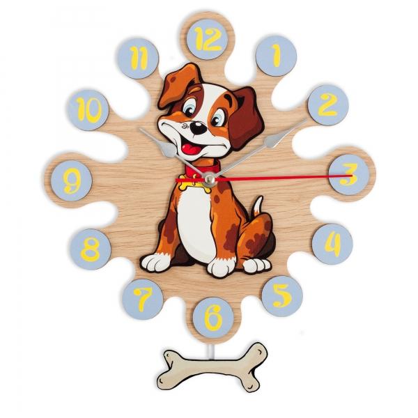 Wall clock with pendulum-Dog