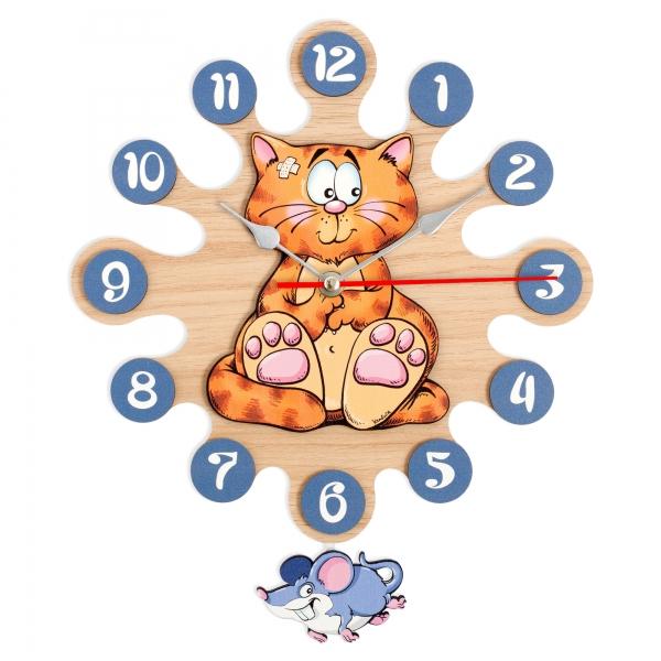 Reloj de pared con péndulo-Gato