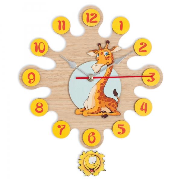 Gift for kids-Wall clock with pendulum Giraffe