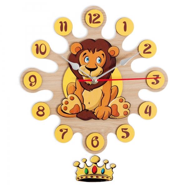 Horloge murale avec pendule Lion